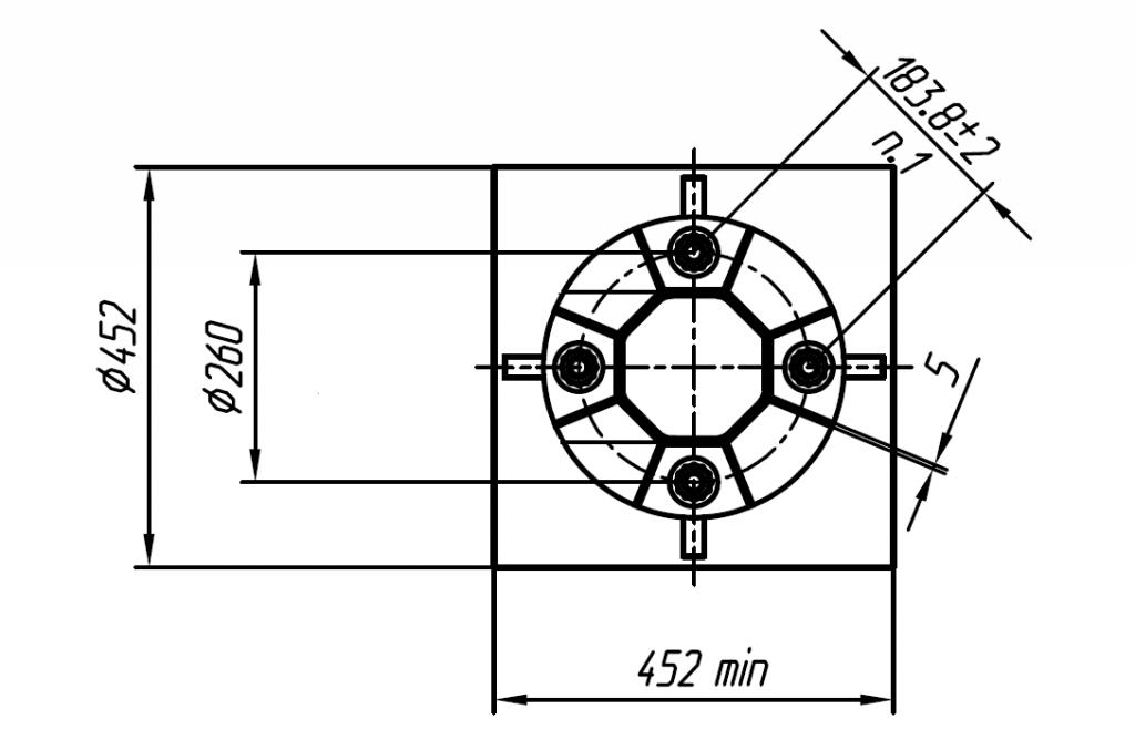 Схема фланца МОГК